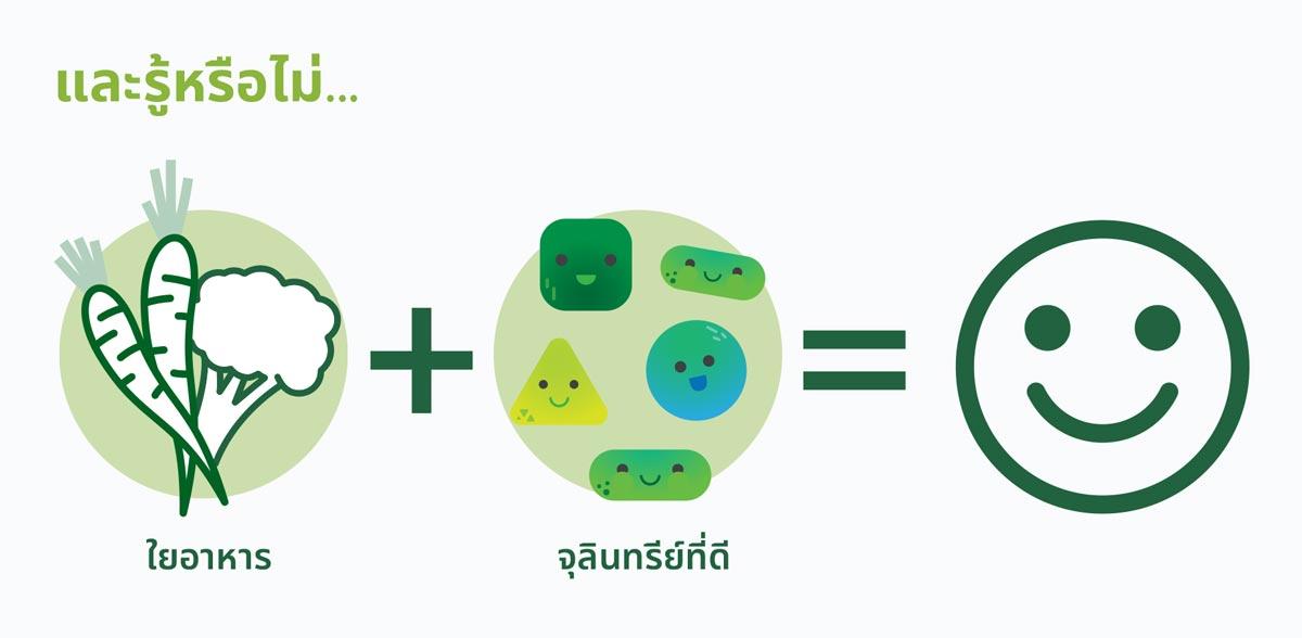 ใยอาหาร + จุลินทรีย์ที่ดี